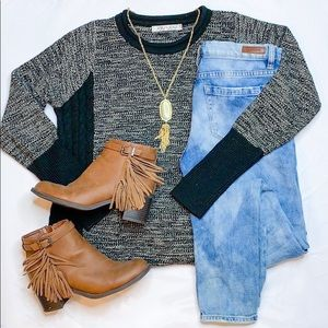 Anthropologie Gray Knit Sweater Sz S/M